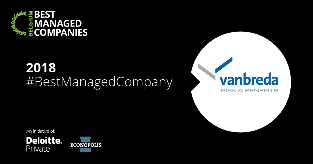 Vanbreda chosen as Best Managed Company 2018